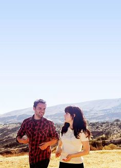 Jake Johnson and Zooey Deschanel as Nick & Jess from New Girl (2011-present)