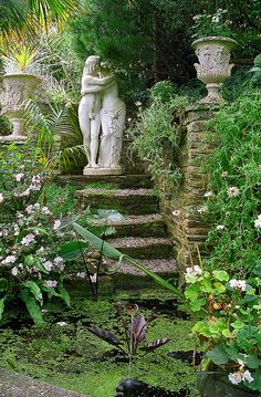 Lamorran House Gardens, Cornwall, UK | A coastal garden featuring romantic garden statues (8 of 11) | Flickr - Photo Sharing!