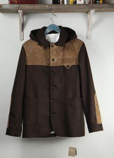 Percival Clothing | Brown Tweed Donkey Jacket
