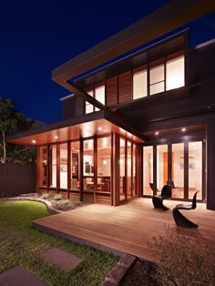 Built by Nic Owen Architects in Clifton Hill, Australia with date Images by Rhiannon Slatter. A creative combination of an inner city Victorian cottage of heritage significance with contemporary design and susta. Contemporary Architecture, Architecture Design, Contemporary Design, Australian Architecture, Australian Homes, Home Decoration Images, Decorations, Modern Design Pictures, Clifton Hill