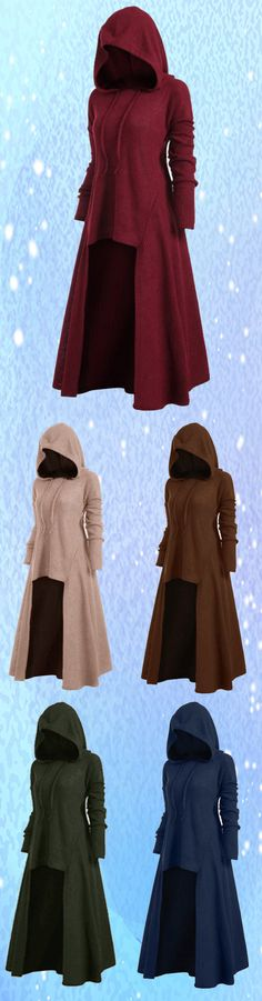 Free shipping&58%off.Plus Size S-5XL Irregular Hem Solid Color Hooded Sweatshirt Dress Sweatshirt Dress, Pretty Outfits, Beautiful Outfits, Cool Outfits, Hooded Sweatshirts, Costume Design, Greek Mythology, Alchemy, Hanger