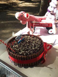 Erik's First Birthday Sock Monkey Cake!!