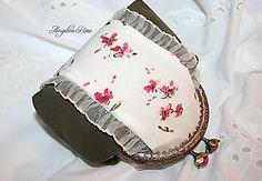 flower purse, flower clutch, romantic purse, romantic clutch, unique kiss lock purse, angeline rose purse by AngelineRosePurse on Etsy