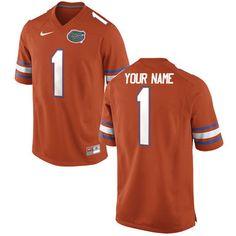 Florida Gators Nike Men's Custom Game Jersey - Orange