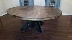 This Large Round Wooden Dining Table Seats 8 10 People Comfortably. The  Table Creates A Unique Way To Seat A Large Group With The Ability To See  And ...