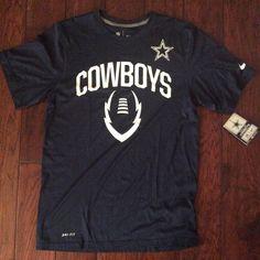Nwt Men's #Dallas Cowboys Nike Navy Blue Performance Shirt S from $9.99