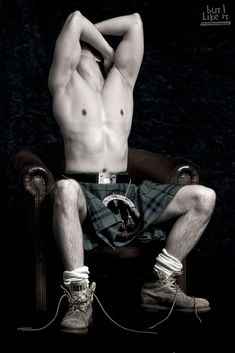 """scotianostra: """"Male form with kilt"""" One for the Lassies and my gay friends."""