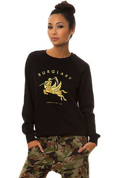 The Burglary Crewneck Sweatshirt in Black by Crooks and Castles use rep code: OLIVE for 20% off!
