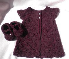 Baby Girl Sweaters, Toddler Sweater, Newborn Crochet, Crochet Baby, Knit Crochet, Pixel Crochet, Handmade Baby, Handmade Clothes, Handmade Gifts