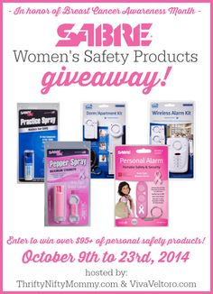 Sabre Women's Personal Safety Products giveaway.
