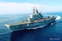 Italian Navy aircraft carrier Giuseppe Garibaldi.
