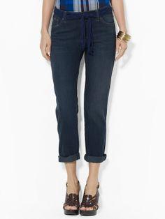 Belted Boyfriend Jean - Pants  Women - RalphLauren.com