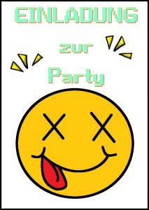 Auf Motto.de Findest Du Lustige Smiley Einladungen Kostenlos Zum Selber  Ausdrucken Im Pdf Format
