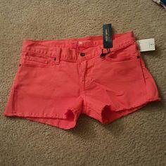 Lucky Brand orange shorts These orange shorts are brand new, so cute. Lucky Brand Shorts Jean Shorts