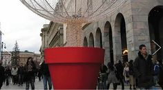 large urban flower pots
