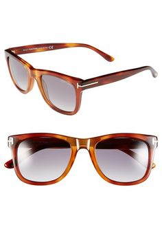 Tom Ford  Leo  52mm Retro Sunglasses available at  Nordstrom Tom Ford  Sunglasses, a252cec2fb07