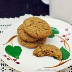 Chewy Ginger Molasses Cookies (grain-free) by She Cooks He Cleans