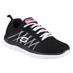 Skechers SK11885 Sports Flex Appeal Something Fun Ladies Trainers 8 US BlackWhite >>> Read more  at the image link. (This is an Amazon affiliate link and I receive a commission for the sales and I receive a commission for the sales)