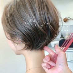 Makeup Hair And Nails We have collected wedding makeup ideas based on the weddi…. Makeup Hair And Nails We have collected wedding makeup ideas based on the weddi… Asian Short Hair, Long Curly Hair, Short Hair Cuts, Shot Hair Styles, Curly Hair Styles, Pompadour Hairstyle, Haircut And Color, Tips Belleza, Great Hair
