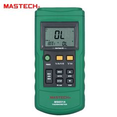 44.76$  Buy here - http://aig2o.worlditems.win/all/product.php?id=32617959392 - MASTECH MS6514 Dual Channel Digital Thermometer Temperature Logger Tester USB Interface 1000 Sets Data KJTERSN Thermocouple
