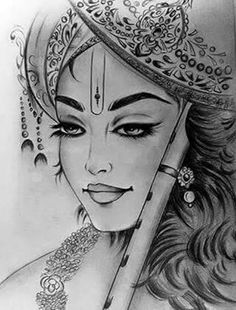 How to draw Bal Krishna pencil drawing step by step - Learn Drawing Lord Krishna Sketch, Krishna Drawing, Krishna Painting, Krishna Art, Krishna Images, Radha Krishna Sketch, Krishna Tattoo, Radhe Krishna, Art Drawings Sketches Simple