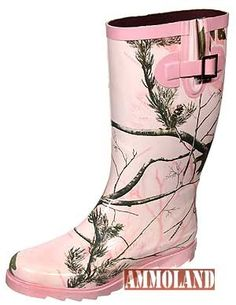 Realtree pink camo rain boots - I hate how everything is PINK for women's camo.. can I get a purple.. or a blue??