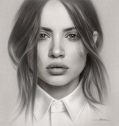 Amazing Photorealistic Color and Lead Pencil Drawings by Art Teacher – Designbolts Realistic Pencil Drawings, Pencil Drawing Tutorials, Pencil Art Drawings, Cool Art Drawings, Pencil Sketching, Pencil Shading, Drawing Faces, Girl Drawing Sketches, Portrait Sketches