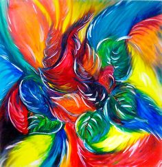 paint . colorful . rainbow . art . swirls . leaves