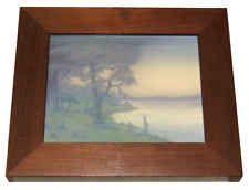 Sally Coyne Rookwood Scenic Vellum Glaze Plaque with Frame