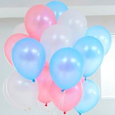 Pink-Blue-amp-White-Balloons-30PCE-Gender-Reveal-Baby-Shower-Party-Decorations