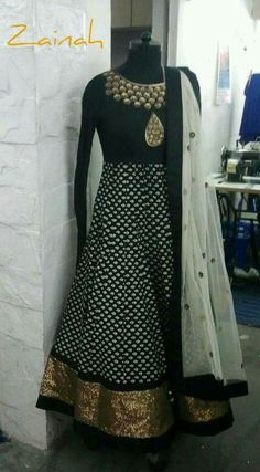 Printed anarkali with a touch of antique sequin from Zainah by Pooja Khokha Arora