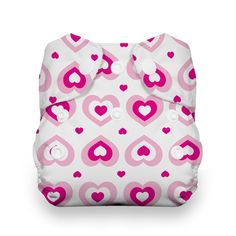 FREE SHIPPING - Thirsties NEW Newborn - All In One - Diaper with Snap Down Button for Umbilical Cord