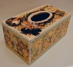 Altered tissue box Ladies Diary. Made by Jacqueline Martin.