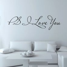 2015 New Arrival I Love You Removable Art Vinyl Mural Home Room Decor Wall Stickers Home Decoration Free Shipping Wholesale(China (Mainland))