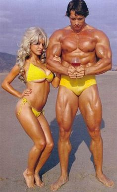 Check out old Arnold Pic. Anyone know who woman in bikini is? # ...