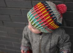 I love how brioche blends colors! Pattern: Syncopation Adoration by westknits, yarn is rainbowheirloom Sweater. Kids Knitting Patterns, Knitting For Kids, Baby Knitting, Crochet Patterns, Yarn Projects, Knitting Projects, Knit Or Crochet, Crochet Hats, Knitting Accessories