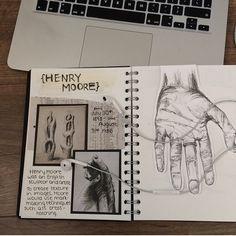 Josie medd artist research on Henry Moore Easy Disney Drawings, Disney Character Drawings, Easy Doodles Drawings, Unique Drawings, Art Drawings, A Level Art Sketchbook, Sketchbook Layout, Sketchbook Inspiration, Sketchbook Ideas