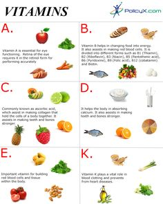#vitamins that help you stay #fit & #healthy :- PolicyX.com