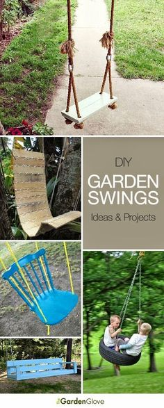 DIY Garden Swings • Lots of Ideas & Tutorials!....