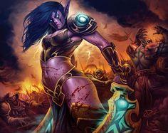 #wowtcg #warcraft #elfe #elf #undead #orc #warrior #guerrier