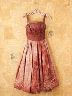 Vintage Hand Dyed 1950s Dress