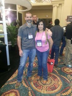 Jannette with Chris Costa at the 2014 SHOT Show Chris Costa, Shot Show, Trials And Tribulations, Over The Years, Shots, Style, Fashion, Swag, Moda