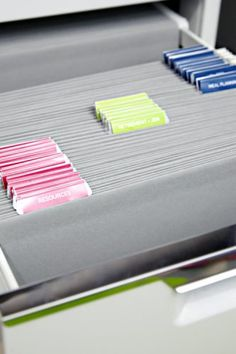 How To Organize Your Home Filing System Organizing Office Pinterest File And