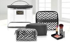 Groupon - Jacki Design Modern Contour Cosmetic Bag Set (4-Piece). Groupon deal price: $19.99
