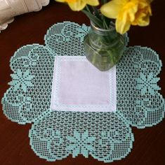 Advanced Embroidery Designs - FSL Crochet Clover Doily