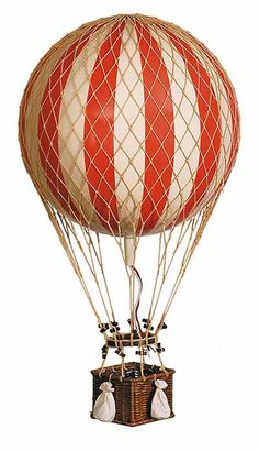 True Red Jules Verne Hot Air Balloon