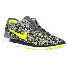 18f0f8052f8e Nike Free 50 Tr Fit 5 Print Sz 105 Womens Cross Training Shoes Grey New In