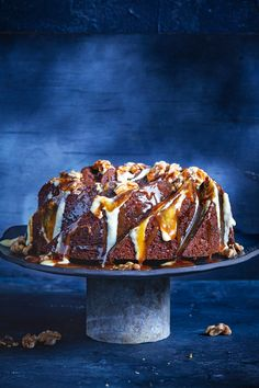 The ultimate winter dessert, this super sticky caramel pudding is best served with a lightly spiced ginger custard. #caramel #pudding #dessert #baking #ginger #custard #australia #australian #australianrecipes Custard Recipes, Pudding Recipes, Dessert Recipes, Self Saucing Pudding, Caramel Pudding, Australian Food, Pastry Brushes, Winter Desserts, Serving Platters