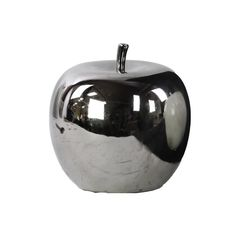 Ceramic Apple Silver. Wish To Adorn Your Kids Room With An Apple Theme? Whats Holding You Back? Get Hold Of Furniture And Fixtures That Have Apple Shape To It. Here'S This Silver Mirror Finish Apple Figurine That Will Be A Great Addition To Your Apple Themed Decoration. This Figurine Is Made Up Of Ceramic And Is Dyed In Silver Color. The Mirrored Finish Offers An Exquisite Look To It. You Can Place It On A Center Table Side Table Dinner Table Or Kitchen Counter. In...