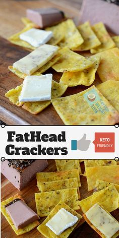 Ketogenic Fathead Crackers are basically the fathead cheese pizza base rolled out thin and cooked until crispy. Its a really simple recipe with only 3 ingredients, but don't let that fool you on how…More 6 Awesome Keto Snacks & Treat Recipes Keto Foods, Ketogenic Recipes, Keto Snacks, Low Carb Recipes, Snack Recipes, Pescatarian Recipes, Fat Head Recipes, Breakfast Recipes, Ham Recipes